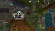 Incorporate the natural environment into your underground base to make it feel more lively.