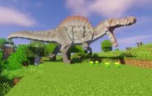 Encounter the harrowing Spinosaurus in Jurassicraft!