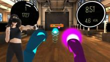 A screenshot of the popular punching workout game: BoxVR