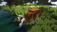 The deer is just one of the peaceful mobs included in Better Animals Plus!