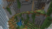 Utilize natural generations like ravines to construct your underground base out of.