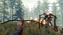 Shoot monsters made out of freaking limbs with a freaking crossbow.