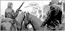 Horse's and assault rifles are par for the course in the apocalypse.