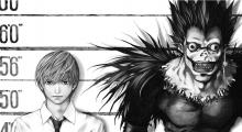 Here we see Light Yagami and Ryuk side by side