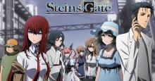 This image features the main cast of popular visual novel Steins;Gate