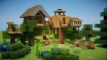 This house comes complete with a treehouse for the kids, or your childish friends.