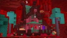 The perfect can be built in the Nether using all natural materials. Unless you like to sleep that is.