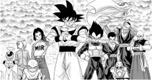 Goku and his friends and foes line up to fight together in Dragon Ball