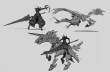 Rell's initial visual designs, courtesy of Riot Games.