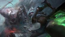 Riven and Sion face off in a heated duel.