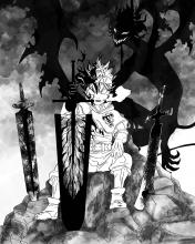 Asta wields the devils swords, which has the ability to steal magic, in Black Clover