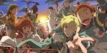 This image features the cast of characters from Log Horizon