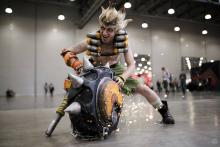 Try cosplaying this nasty character, Junkrat from Overwatch!