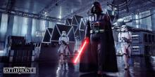 Vader leads stormtroopers to the heat of the fight.