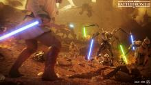 Obi-Wan stares down the four-armed cyborg in the midst of the Clone Wars.