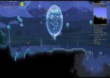 The Stardust Pillar from Terraria's Lunar Invasion event.