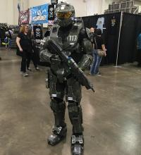 Try complete cosplay costumes like Master Chief's Spartan Suit