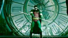 Robin prepares for trouble in the Clocktower