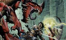 This art from Pathfinder's core rulebook exemplifies the kind of action and adventure the game can deliver.