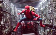 An Action shot of Spider-Man from Spider-Man: Homecoming