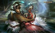 Seoni and Valeros face a daring battle at sea.