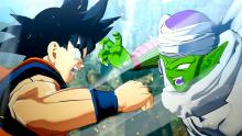 A battle between rivals Goku and Piccolo