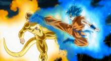 The battle in the movie Dragonball Z Resurrection F