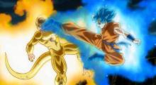 Goku battling Golden Frieza
