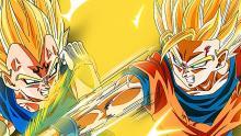Goku taking on Majin Vegeta