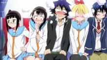 Raku and his female classmates