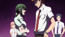 Hana and her boyfriend arguing