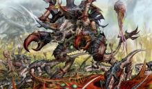 Tyranid swarm overruns a planet and wreaks havoc