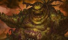 Nurgle is the Chaos God of Plague. He is a grotesque beast who loves spreading disease and destruction
