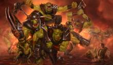 An Ork unit advances without mercy