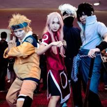 Awesome cosplayers, cosplayed as Naruto, Sakura, Sakura and Kakashi