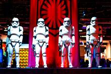 They have this funny show made of storm troopers!