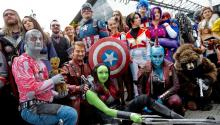 A big cosplay group of only Marvel characters. Everyone loves Marvel, right!
