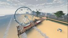 The promised ferris wheel on a pier!