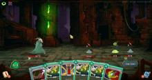 Battle between a player and several enemies including slime.