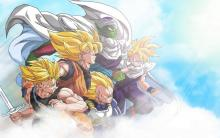 The Z Fighters in Super Saiyan