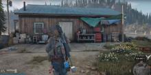 A place to sleep and save the game at Iron mike's camp in days gone