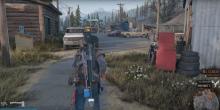 Deacon walking through Iron mike's camp