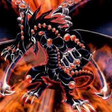 Artwork of Yugi Muto's ace card, Gandora the Dragon of Destruction!