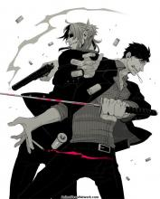 This image features Worrick and Nicolas, two of the main characters in Gangsta
