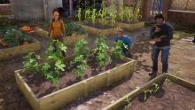 State of Decay 2 has a mechanic where you need to garden to make sure you have food.