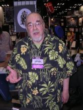 This is a photo snapped of Gygax at Gencon '07, where he was an obvious celebrity.
