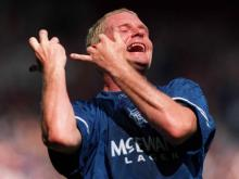 Gazza was famous for his controversial celebrations.