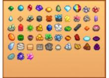 All of the available gems in stardew.