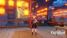 Bennett attending the famous Lantern Festival in Liyue