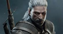 Close up of Geralt in all his gritty glory.